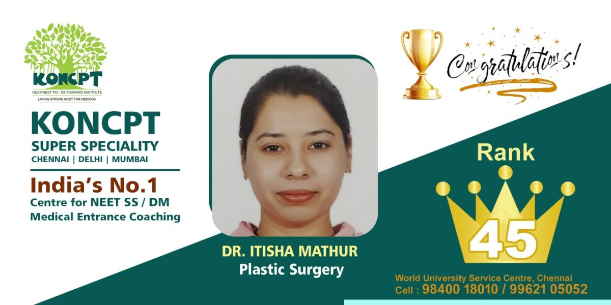 Plastic Surgery Topper NEET SS 2020