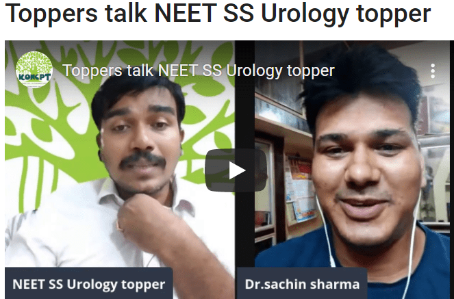 Toppers talk NEET SS Urology topper