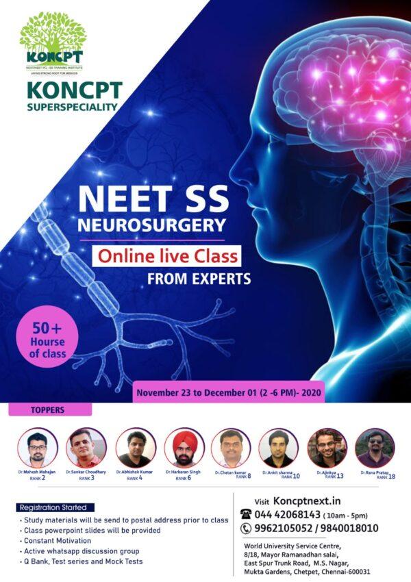 Neurosurgery Online Live Course 2020 -21